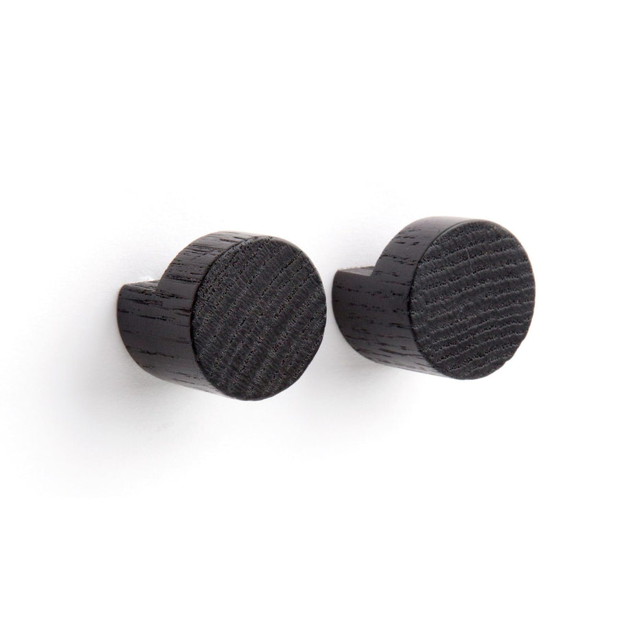 Wood Knot Small Hook / Black 2 pieces