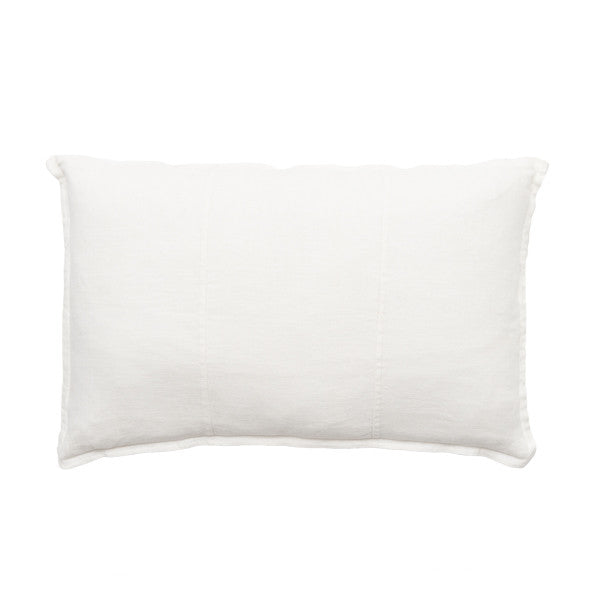 Pre Washed Linen Cushion 40x60 White