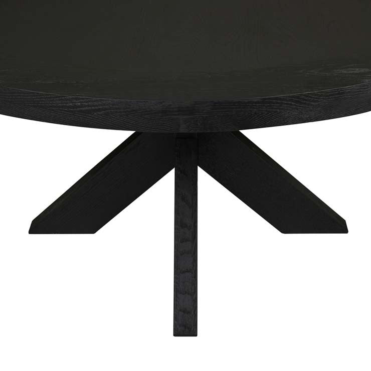 GlobeWest | Acre Round Dining Table- Matt Black