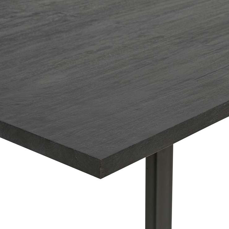 Linea Sleigh Dining Table - Black Ink