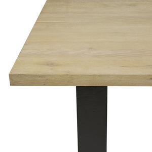 Linea Sleigh Dining Table - natural oak