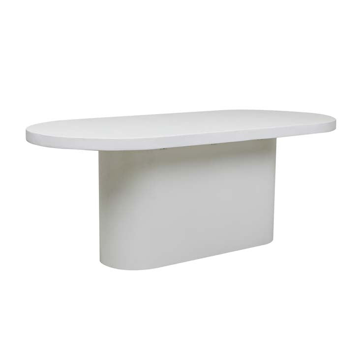 GlobeWest | Ossa Concrete Oval Dining Table