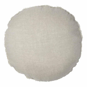 Lulu 100% European Linen Round Cushion Natural 60cm