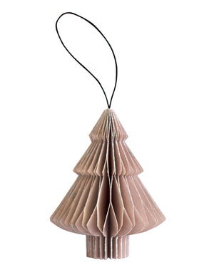 Nordic Rooms | Rose Paper Tree Ornament with Silver Glitter Edge