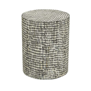 GlobeWest | Zahra Block Side Table- Dapple Bone