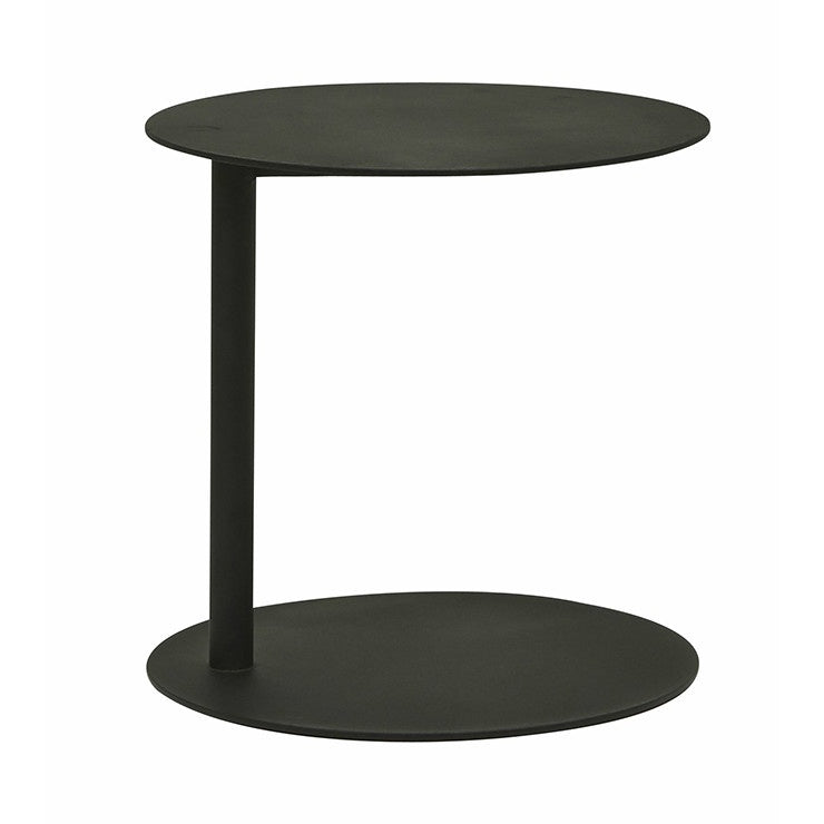 GlobeWest | Aperto Ali Round Side Outdoor Table  - Black