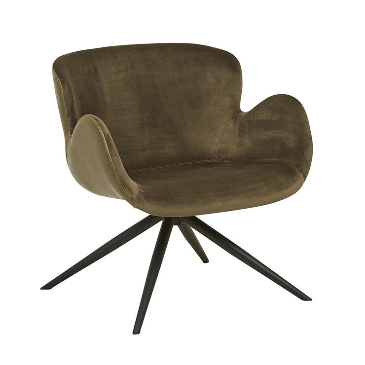 GlobeWest | Astrid Arm Chair - Brown/Brown Velvet