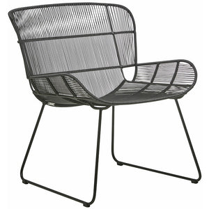 GlobeWest | Granada Outdoor Butterfly Occasional Chair - Licorice