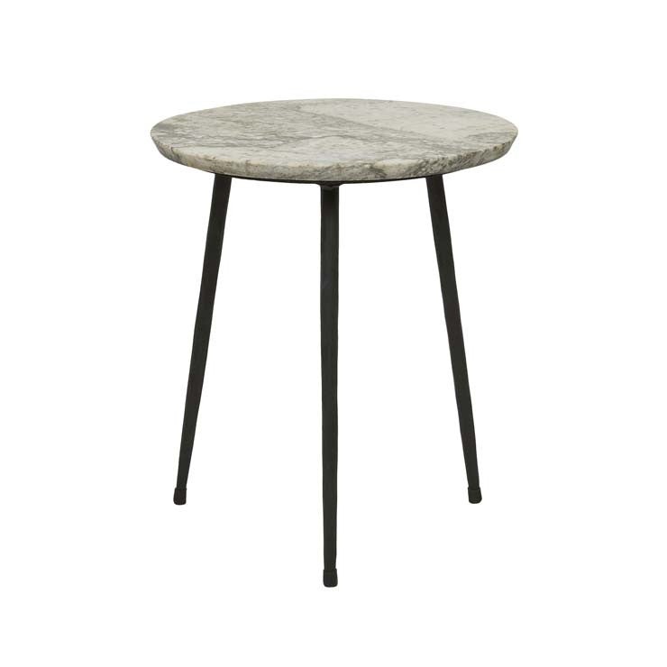 GlobeWest | Ridge Marble Side Table