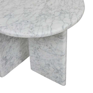 GlobeWest | Amara Pebble Side Table- White Marble
