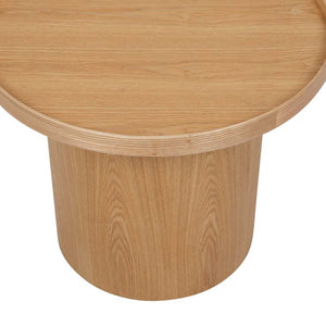 GlobeWest | Classique Pedestal Side Table - Natural Ash