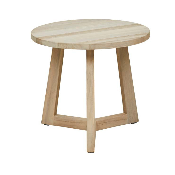 GlobeWest | Positano Side Table - Aged Teak