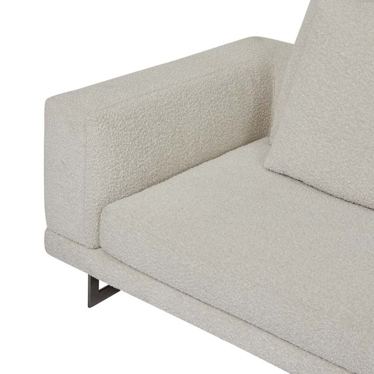 GlobeWest | Hugo Grand Right Chaise Set- Oat Boucle