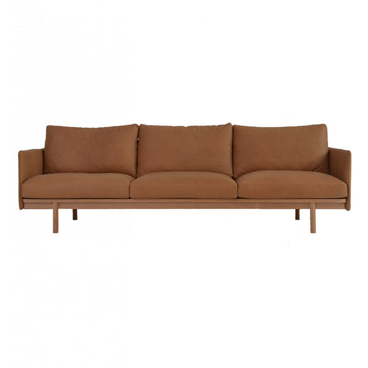 Tolv Pensive 3 Seater Sofa - Tan Leather