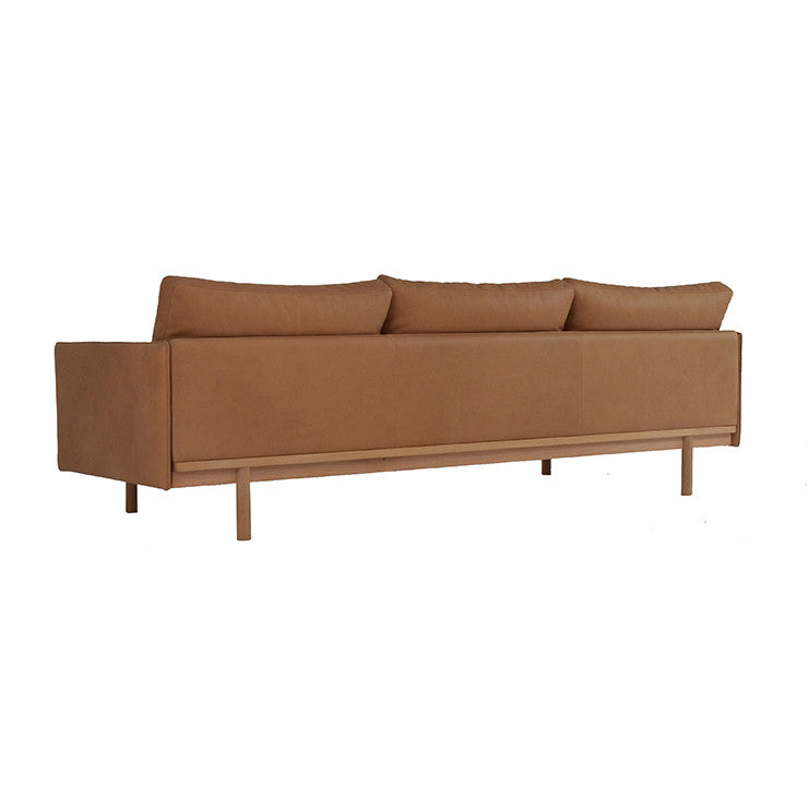 GlobeWest | Tolv Pensive 3 Seater Sofa - Tan Leather