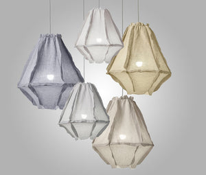 Cumulus Muslin Pendant Light / White