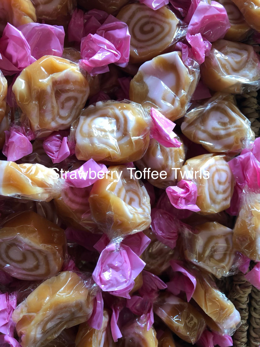 Strawberry Toffee Twirls