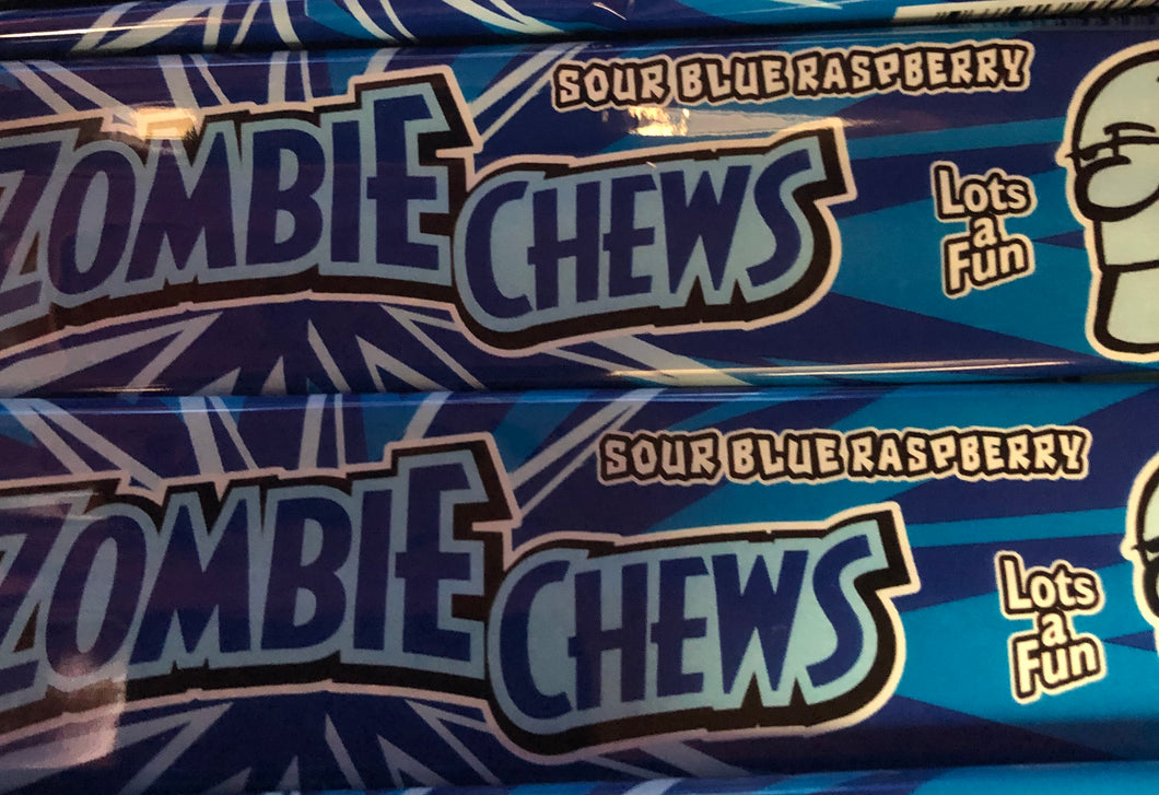 Sour Blue Raspberry Zombie Chews