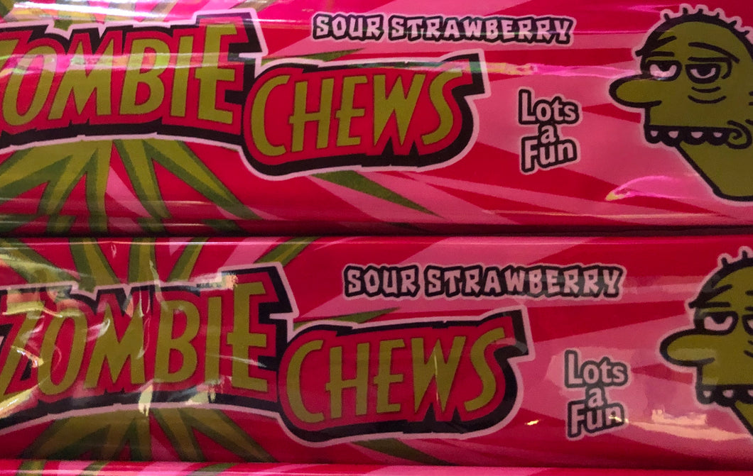 Sour Strawberry Zombie Chews