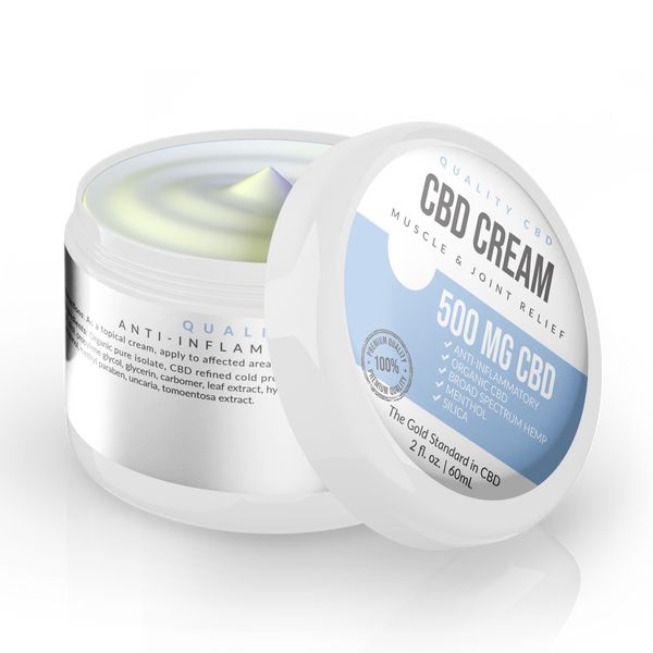 Quality CBD Muscle & Joint Relief CBD Cream With Menthol - Quality CBD