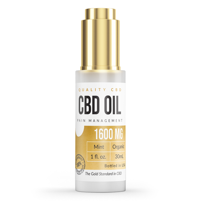 Quality CBD Pain Remedy Tincture 1600 - Quality CBD