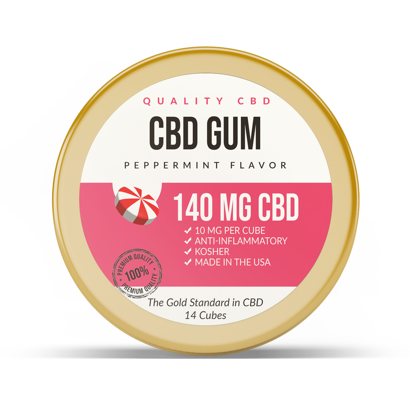 Quality CBD Infused Chewing Gum Soft Cubes - Quality CBD