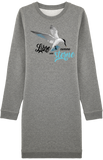 Robe Sweat-Shirt Libre comme une sterne