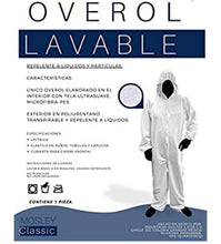 Load image into Gallery viewer, Overol Lavable con capucha uso Medico e Industrial UNI TALLA