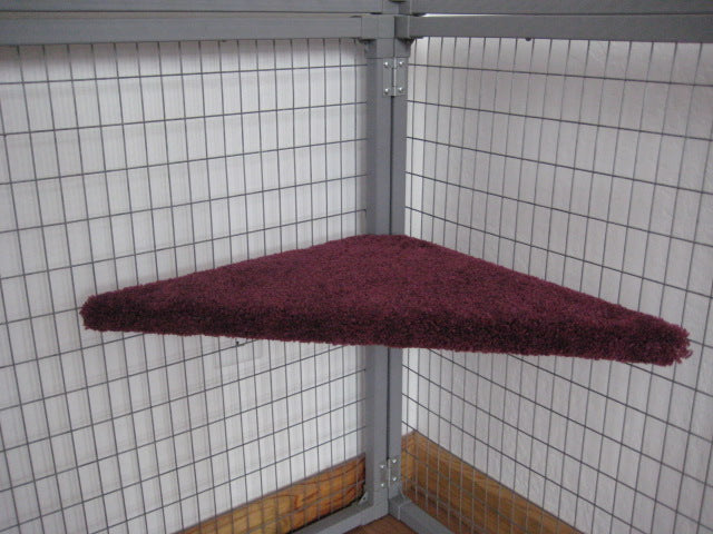 Corner Shelf -padded & carpeted