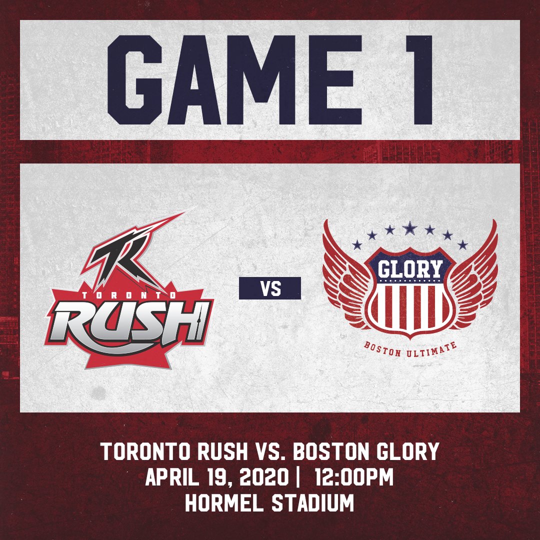Game 1: April 19th vs. Toronto Rush
