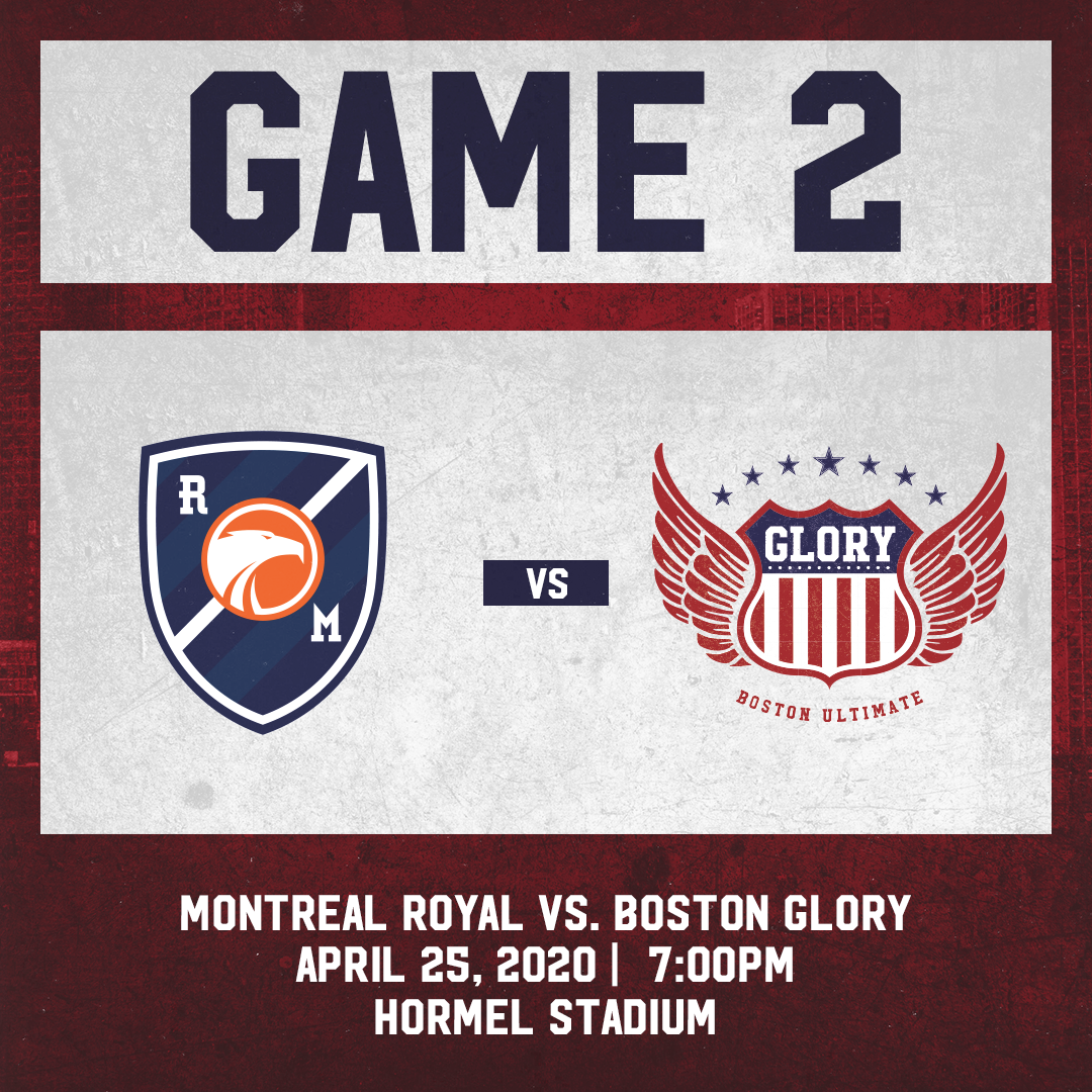 Game 2: April 25th vs. Montreal Royal