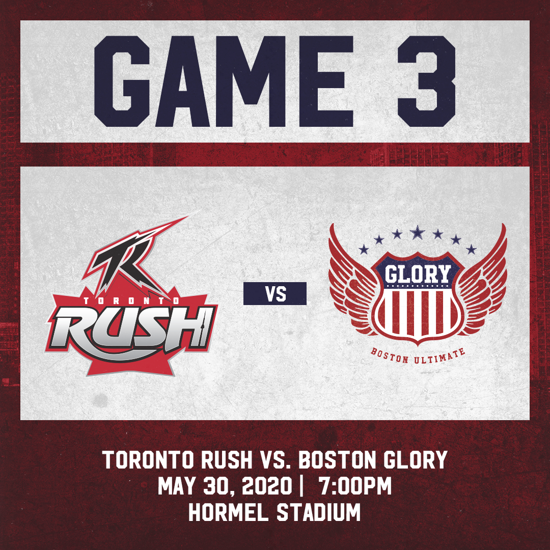 Game 3: May 30th vs. Toronto Rush
