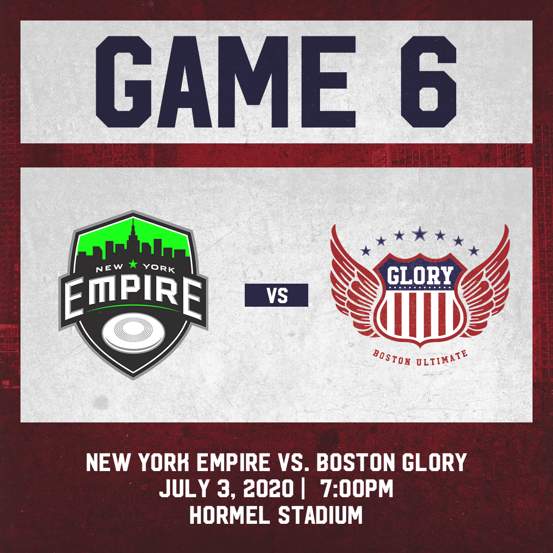 Game 6: July 3 vs. New York Empire