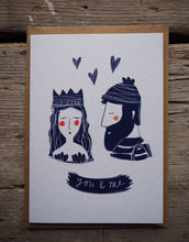 "Load image into Gallery viewer, Valentines Day card ""you & me"" lovers"