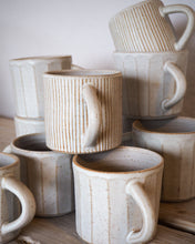 Load image into Gallery viewer, White faceted stoneware mug // made to order