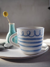 Load image into Gallery viewer, Skinny stripes and curly whirler Mug