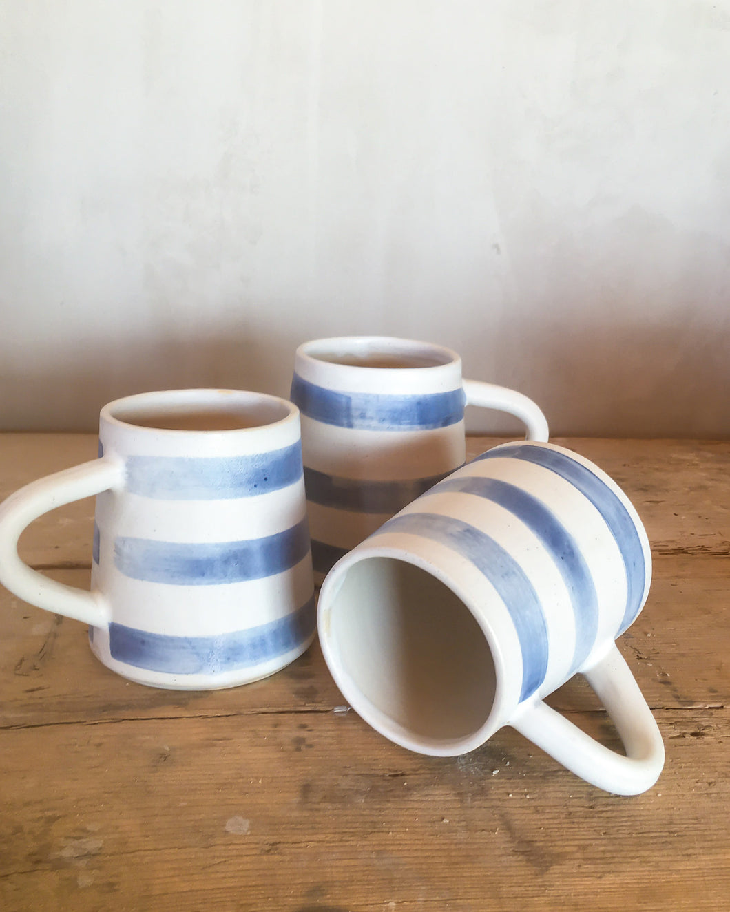 Cornish Stripe coffee cups // made to order