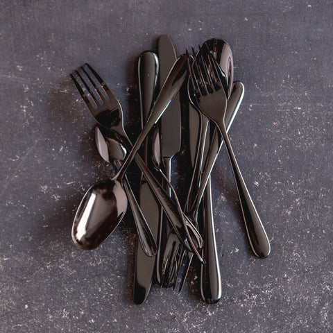 24 piece cutlery set - anthracite (burnished black)