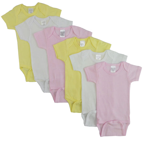 Pastel Girls Short Sleeve 6 Pack