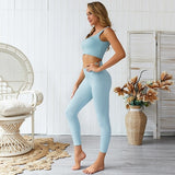 2 Piece Cotton Spandex Yoga Set
