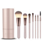 Luxury Champagne Makeup Brushes Set For Foundation
