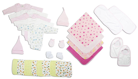Newborn Baby Girls 17 Pc Layette Baby Shower Gift