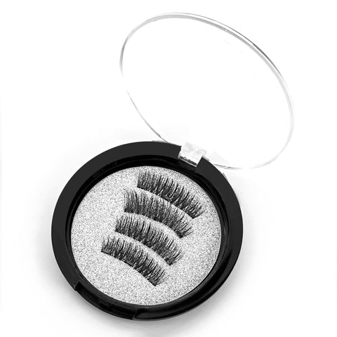 4pcs/box Magnetic Eyelashes With 3 Magnets