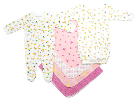 Newborn Girls 6 Piece Layette Set