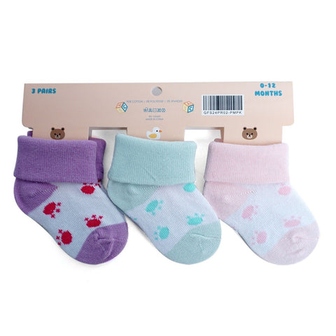 Fancy Babies  Socks with Paw Print Pattern