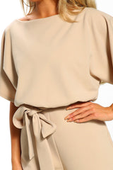 Summer Apricot Always Chic Belted Culotte Jumpsuit