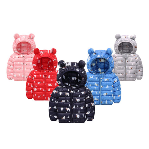Boys Girls Jacket Coat Chlidren Winter Coats 3D