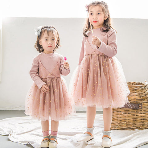 Cute baby girl dress Toddler Kids Baby Pink Ruffle