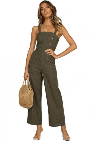 Green Frankie Jumpsuit For Women