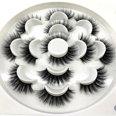 HBZGTLAD 2/4/7 pairs natural false eyelashes fake
